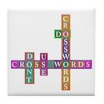 Do crosswords Tile Coaster