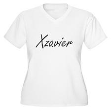 Xzavier Artistic Name Design Plus Size T-Shirt