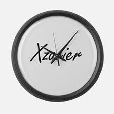Xzavier Artistic Name Design Large Wall Clock