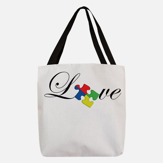 Autism Awareness Love Puzzle Pi Polyester Tote Bag