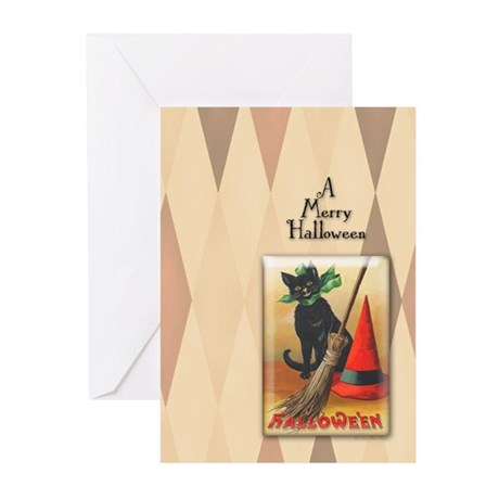 TLK011 Halloween Cat Greeting Cards (Pk of 10)