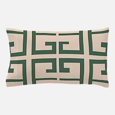 Green and Khaki Tile Pillow Case