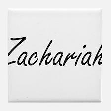 Zachariah Artistic Name Design Tile Coaster