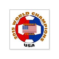 "2015 World Champions Square Sticker 3"" x 3"""