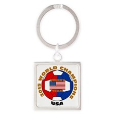2015 World Champions Square Keychain