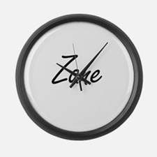 Zane Artistic Name Design Large Wall Clock