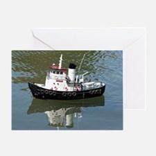 Model tugboat Greeting Card