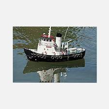 Model tugboat Rectangle Magnet