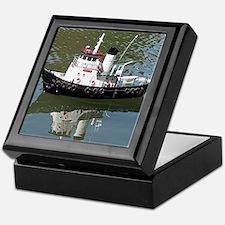 Model tugboat Keepsake Box