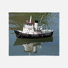 Model tugboat Throw Blanket