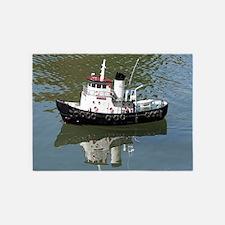 Model tugboat 5'x7'Area Rug
