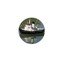 Model tugboat Mini Button