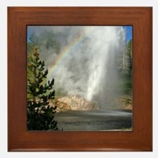 Riverside Geyser with Rainbow at Yello Framed Tile