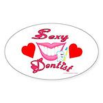 Sexy Dentist Oval Sticker