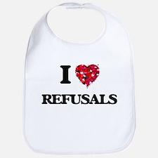 I Love Refusals Bib