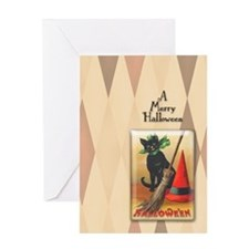TLK011 Halloween Cat Greeting Card