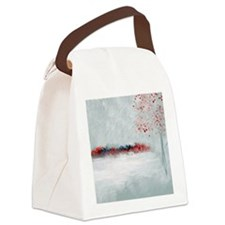 Icing with Red Kisses Canvas Lunch Bag