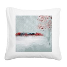 Icing with Red Kisses Square Canvas Pillow