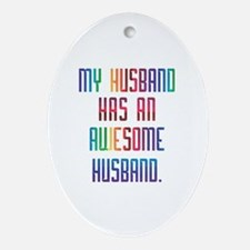 My Awesome HUsband Oval Ornament