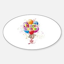 Happy 40th Birthday Sticker (Oval)