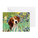 Irises & Beagle Greeting Cards (Pk of 20)