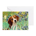Irises & Beagle Greeting Card