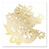 Chinese dragon Square Car Magnets