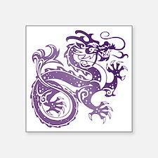 """Funny Dragon Square Sticker 3"""" x 3"""""""
