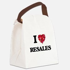 I Love Resales Canvas Lunch Bag