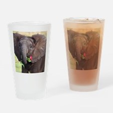 BABY ELEPHANT , LOVE Drinking Glass
