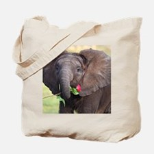 BABY ELEPHANT , LOVE Tote Bag