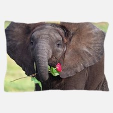 BABY ELEPHANT , LOVE Pillow Case