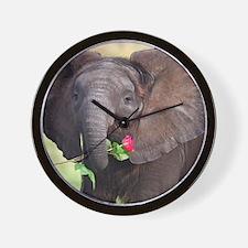 BABY ELEPHANT , LOVE Wall Clock