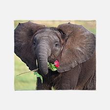 BABY ELEPHANT , LOVE Throw Blanket
