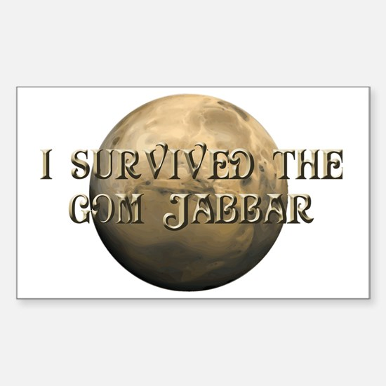 Dune - I survived the Gom Jabb Sticker (Rectangle)