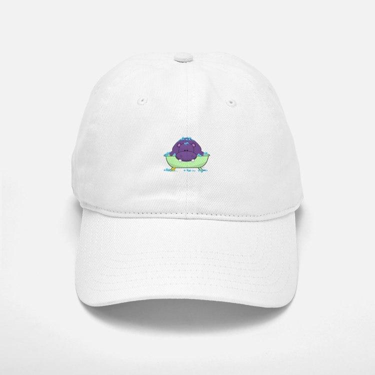 Bathing Purple Hippo Baseball Baseball Baseball Cap