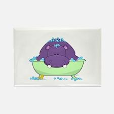 Bathing Purple Hippo Magnets