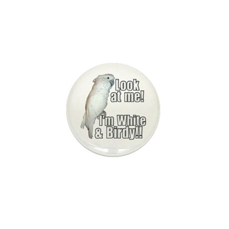 White & Birdy Mini Button (10 pack)