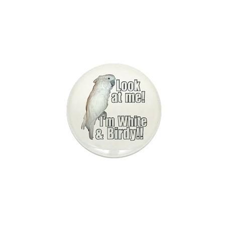 White & Birdy Mini Button (100 pack)