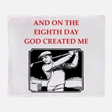 golf joke Throw Blanket