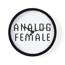 Analog Female Wall Clock