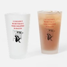 hockey joke Drinking Glass