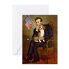 Lincoln & Beagle Greeting Cards (Pk of 20)