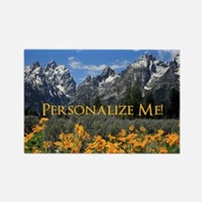 Personalizable Photo Souvenir Gra Rectangle Magnet
