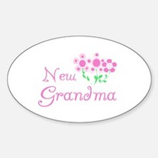 New Grandma Oval Bumper Stickers