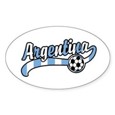 Argentina Soccer Oval Decal