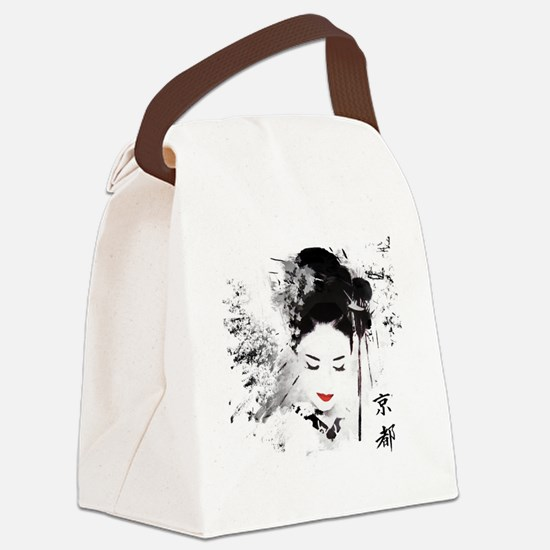 Kyoto Geisha Canvas Lunch Bag