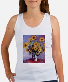 Bouquet of Sunflowers by Claude Monet Tank Top