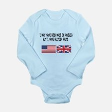 Born in America but made with British Pa Body Suit