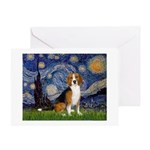 Starry Night & Beagle Greeting Card